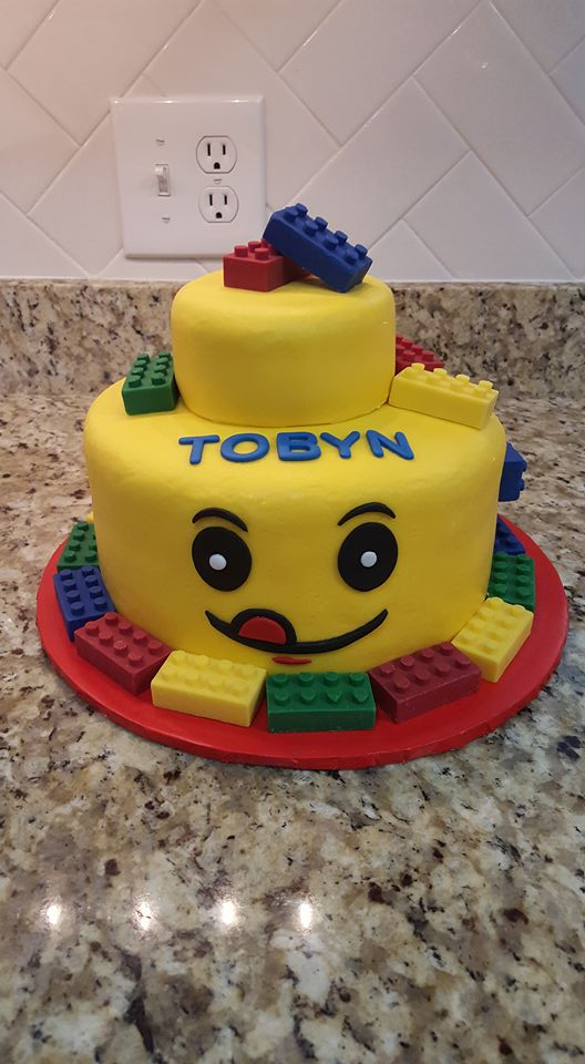 Lego Man Birthday Cake