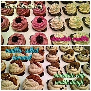 Four Varieties of Cupcakes