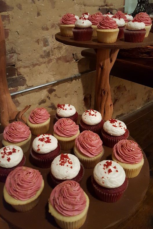 Two Tiers of Cupcakes