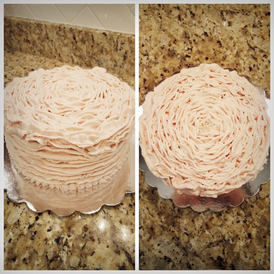 Light Pink Ruffle Cake