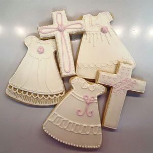 Pink Christening Cookies