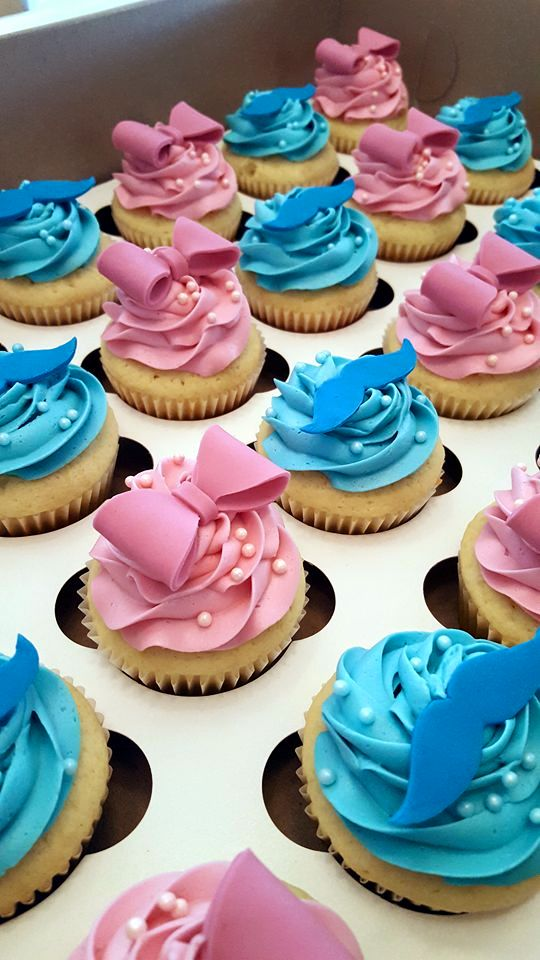 gender reveal cupcakes four oaks bakery