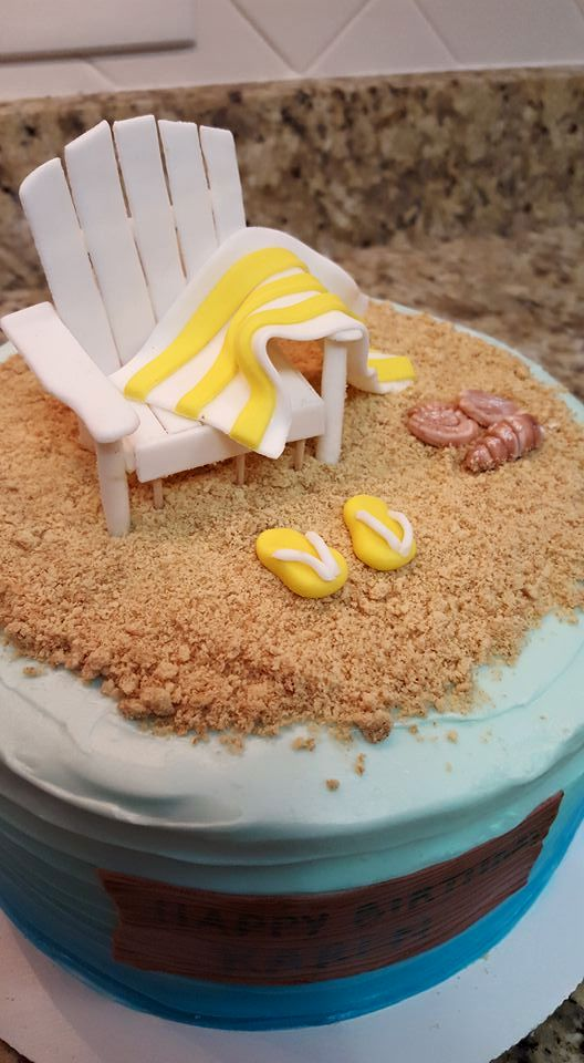 Life's a Beach Birthday Cake