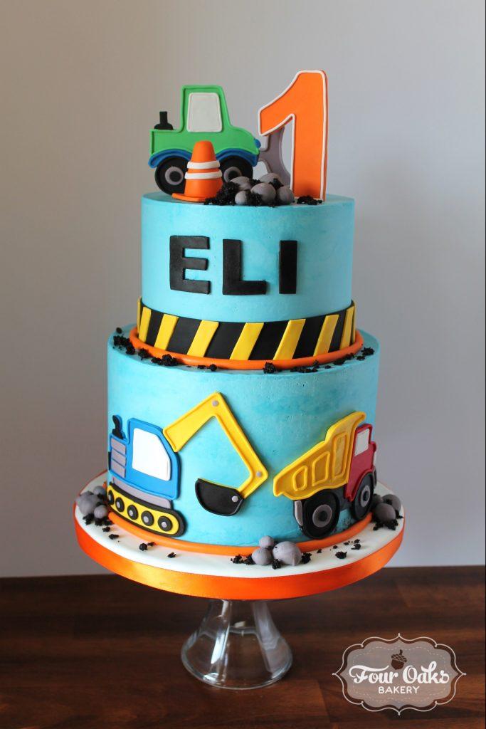 Eli S Construction Themed First Birthday Cake Four Oaks
