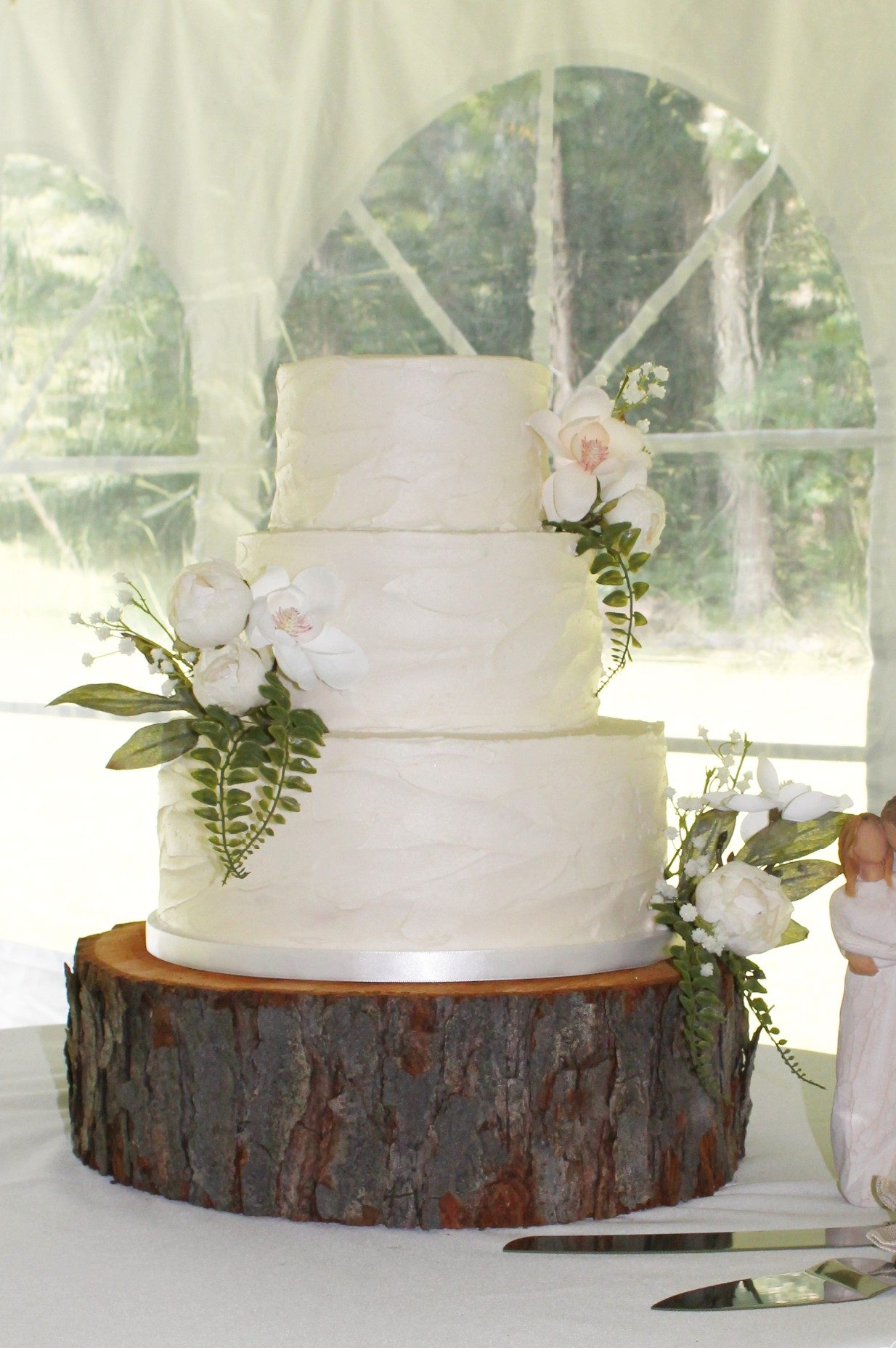 Natural Textured Buttercream Wedding Cake in Indiana, PA - Four Oaks ...